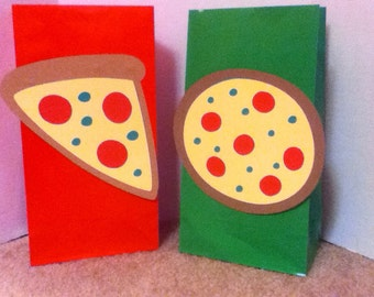 Cute Pizza Party Goody Bags
