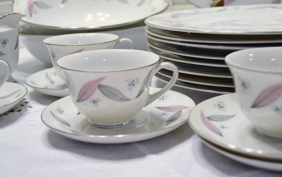 & Vintage Serenade by Narumi Dinnerware Set 45 pcs Pastel Pink