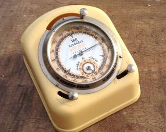 French Vintage Timer | Clock | Vintage Clock | French Cafe Timer Clock.