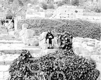 """Photo print """"Apollo incognito in Delphi"""" (2007) -photograph"""