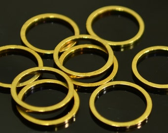 100 Pieces Raw Brass 12 mm Circle Connector