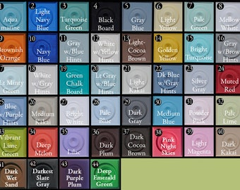 Color Chart for Chalk Mountain Paint Sold in Pint Cans