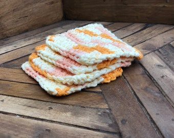 Crocheted Coasters - Sunshine Set of 4