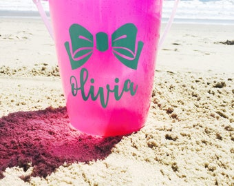 Personalized Beach Bucket Name Decal