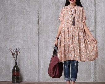 Loose Fitting Long Shirt Blouse for Women   Women Clothing