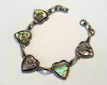 Vintage Abalone Heart Bracelet