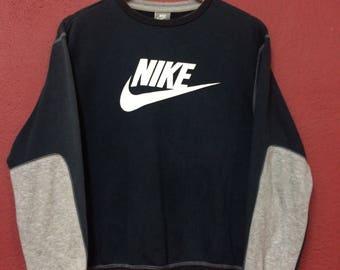 Vintage Nike sweatshirt sport big logo hip hop swag rap tees..size large