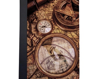 Vintage Nautical Map & Compass Folio Case For The iPad Mini 1,2,3 and 4