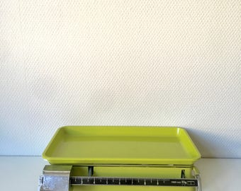 Lime green kitchen scales, green metric scales, french Terraillon kitchen scales, green kitchen scales, vintage terraillon kitchen scales