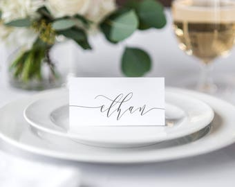 Signature Calligraphy Place cards, Wedding Place Card, Event Place Cards, Printable