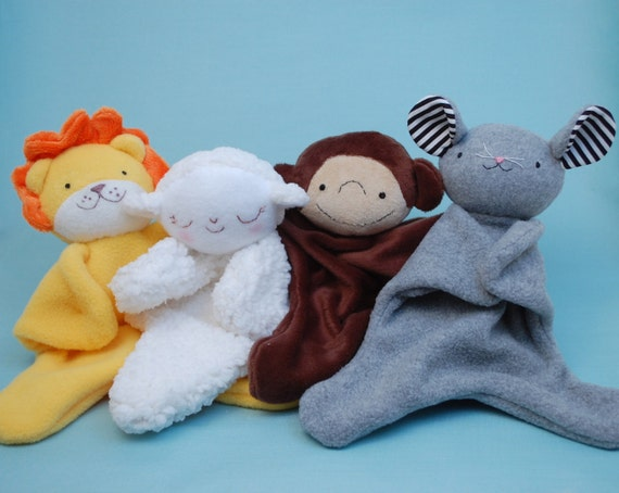 Lovey Dovey Lion, Lamb, Monkey, Mouse - PDF Sewing Pattern For Baby ...
