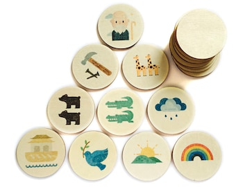 Noah's Ark - Memory Match | my little set | wooden game | story stones | memory match |