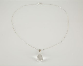 Crystal Tear Drop  Pendant Necklace