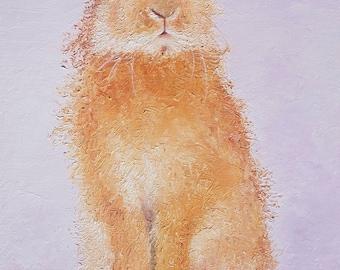 Easter bunny art, Rabbit painting, Nursery Art, canvas art, Easter gift, nursery painting, animal painting, Etsy Nursery Art, Jan Matson