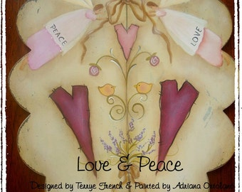 Love and Peace - email pattern packet by, Adriana Ortolano