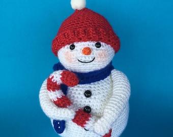 SNOWMAN & CANDY CANE Pdf crochet pattern (English only)
