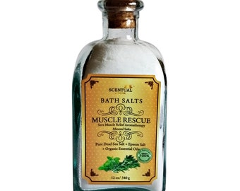 BATH SALT,  Muscle Relief Bath Salt,  Relaxing Bath Salt, Muscle Rescue Bath Salt, Birthday Gift, Gifts for Her, Gifts for Him, Gift for Mom