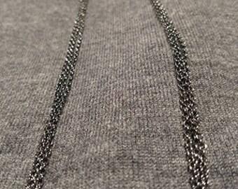 Gunmetal Dangle Chain Earrings