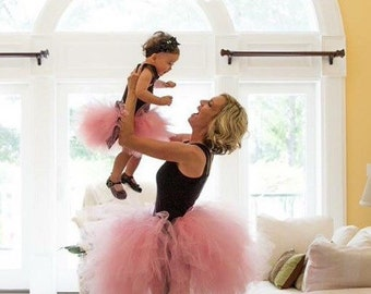 """Solid pink  Adult Tutu for waist up to 34 1/2"""" great for Halloween, Birthdays, Dance and Bachelorette parties"""
