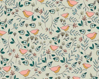 Art Gallery - Love Story Collection - Lovebirds in Celeste