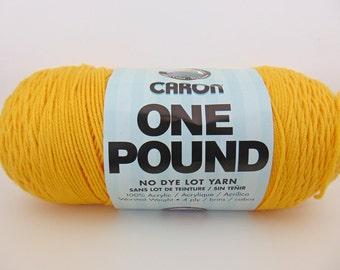 Sunflower- Caron One Pound Yarn worsted weight - 1038