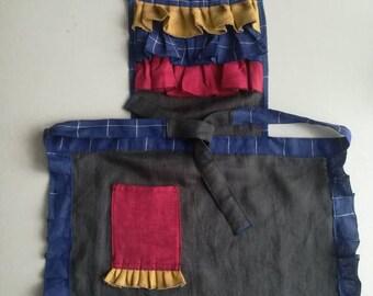 Linen apron.