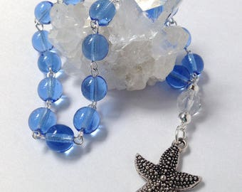 Blue Ocean Pocket Prayer Beads // Yemaya // Stella Maris