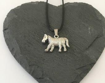 Zebra necklace / zebra jewellery / zebra lover gift / animal necklace / animal jewellery / animal lover gift