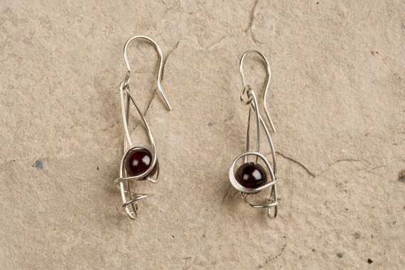 Small DESIGNER Drop Earrings - CHOOSE your Metal & STONE Beads,