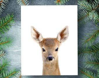 Baby deer print, PRINTABLE art, Animal prints, Nursery decor, Animal art, Baby animals, Nursery wall art, Kids room decor, The Crown Prints