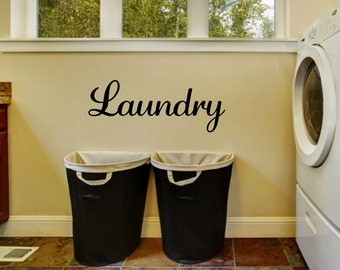 Laundry Decal Laundry Wall Decal Laundry Vinyl Decal Laundry Door Decal Laundry Room Decal Laundry Room Vinyl Laundry Room Decor