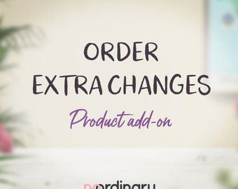 Product add-on: Purchase extra changes for your existing order