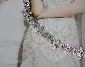 Beautiful Vintage Inspired Wedding Bridal Rhinestone Headband
