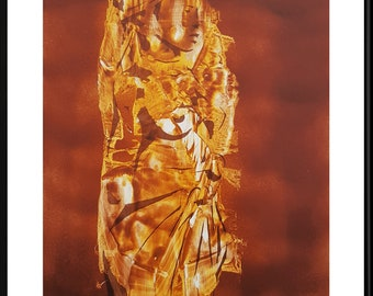 """Painting Africa """"Jason"""" (hand-made and signed) in acrylic paint, African woman, tribe"""
