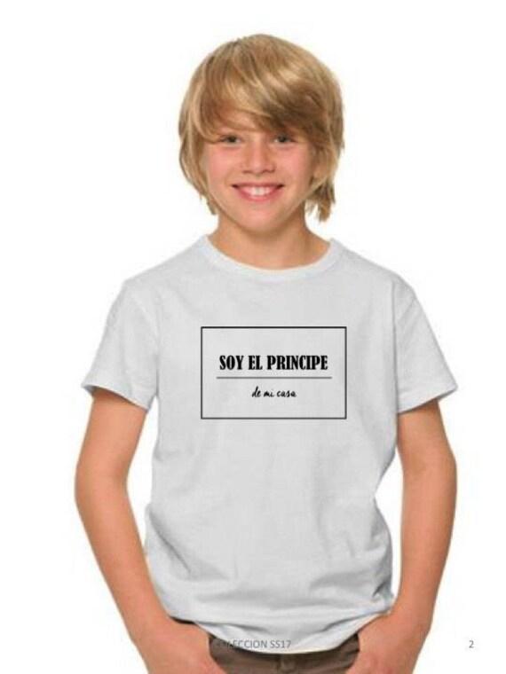 Boy white t-shirt SOY EL Principe de mi casa