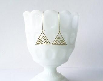 Overlapping Triangles Earrings | ATL-E-114