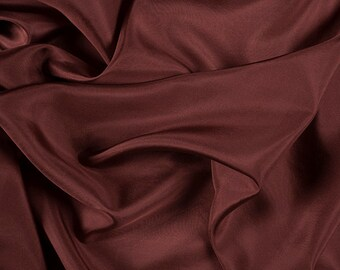 "45"" Wide 100% Silk Crepe de Chine Rust by the yard (1200M174)"