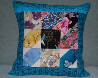 """14"""" Quilted Pillow Orient Express"""