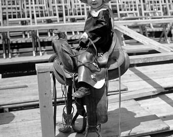 """1923 Young Cowboy Vintage Photograph 8.5"""" x 11"""" Reprint"""