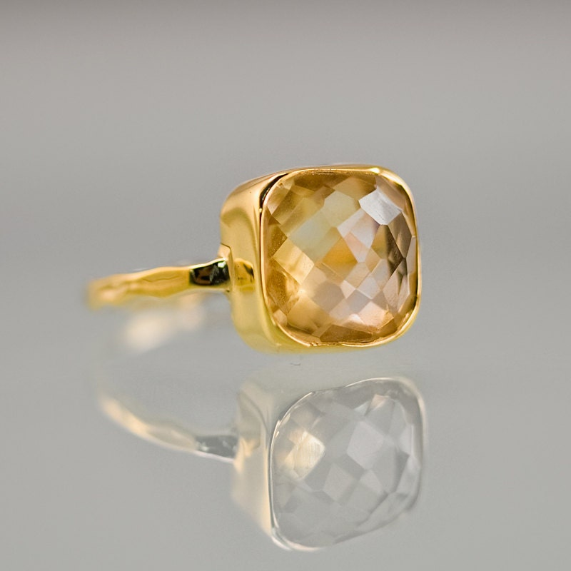 ring free cushion gold august product shipping overstock citrine today rings anika jewelry and yellow watches cut