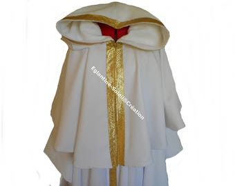 Fleece lined Cape, braid, color and choice of length.