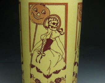 Death's Beauty Halloween Tumbler