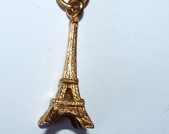charm Eiffel Tower monument gold 3D volume for creating pendant jewellery designs