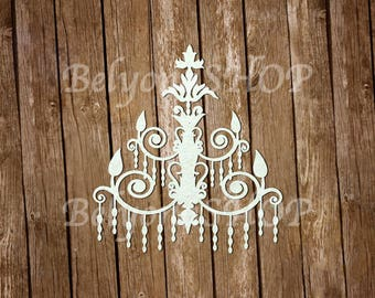 Chipboard Chandelier vintage