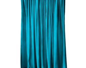 Elegant Turquoise Velvet 108 Inch Curtain Long Panel Extra Wide Custom Made Sizes For Large Window Treatments Decor Display Drapes Drapery