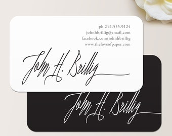 Elegant name business card calling card mommy card signature script business card calling card mommy card contact card calling cards colourmoves