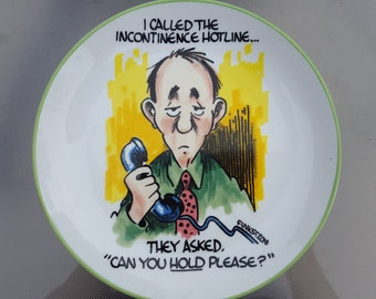 Finkstrom Cartoon Plate Humor Plate Funny Gift for Men Old Age Fun Plate Collectible Plate Annonyingly Honest Finkstrom Plate