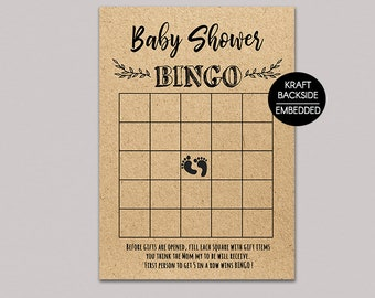 Floral Baby Shower Bingo Cards Baby Shower Game Printable