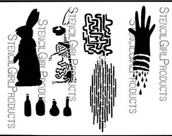 Rabid Bunny Stencil