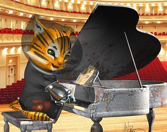 Space Cat at Carnegie Hall